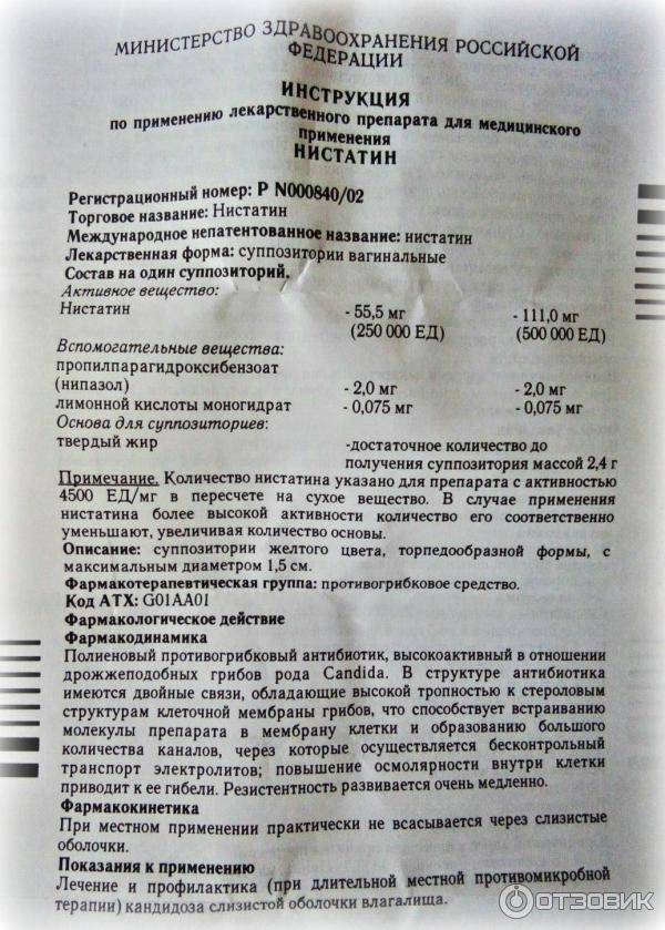 «Нистатин» при беременности: инструкция по применению