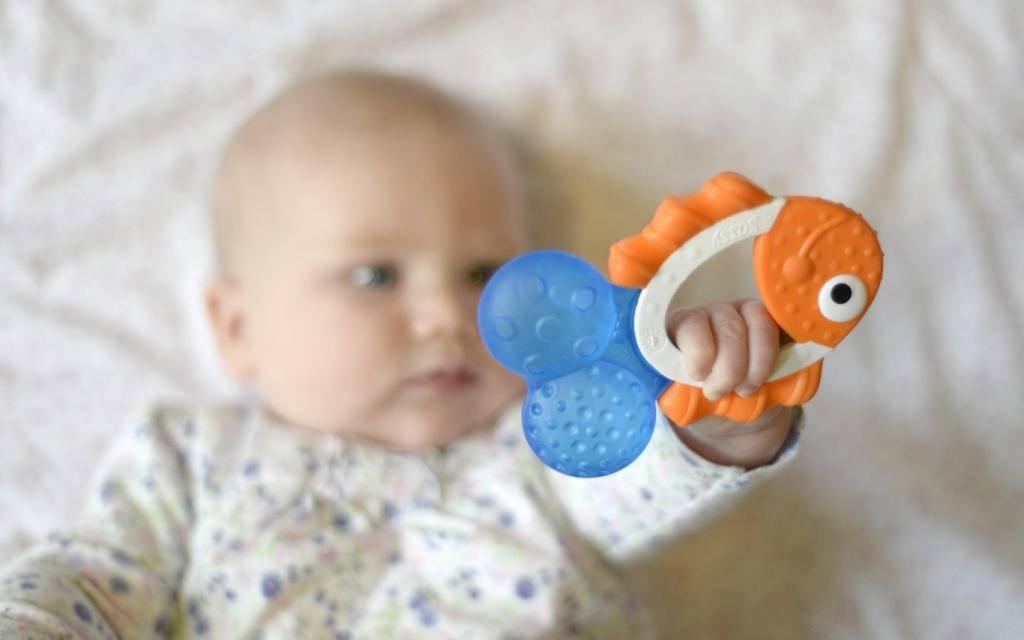 Когда ребенок начинает держать игрушку в руках