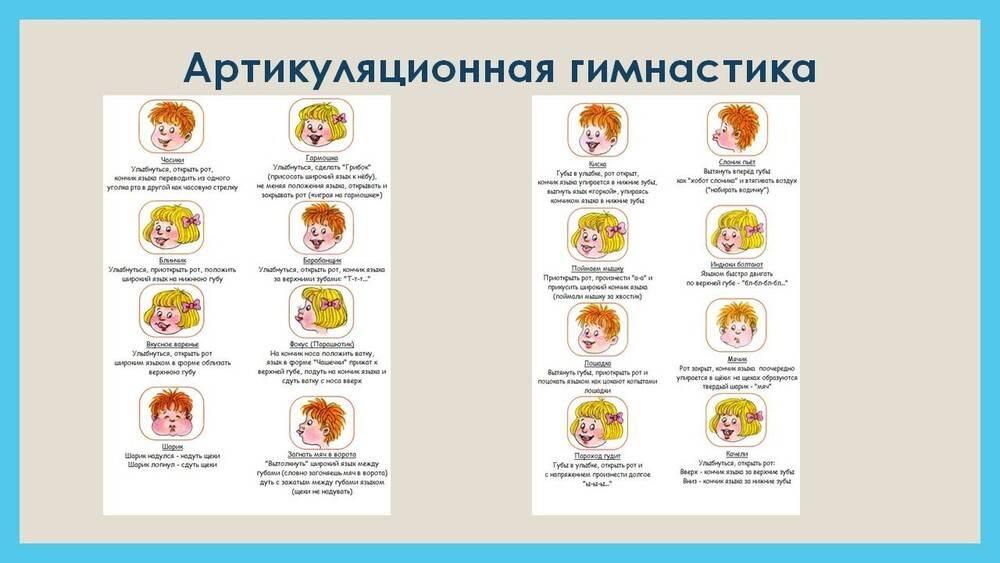 Артикуляционная гимнастика для детей: упражнения для ребенка 4-7 лет при заикании, в 5 и 6 лет