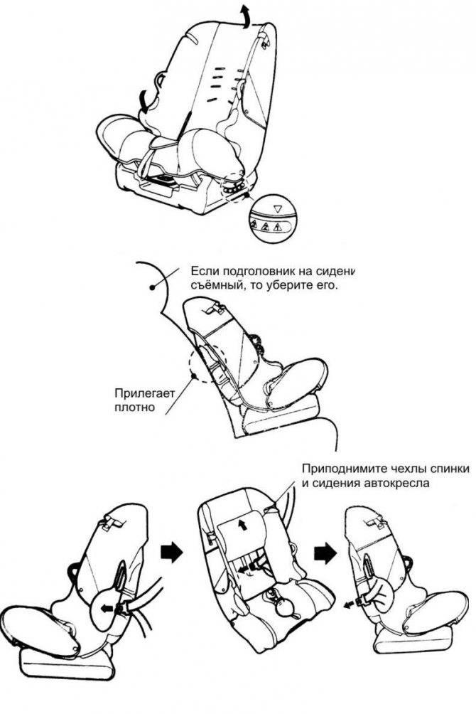 Установка детского автокресла инфинити