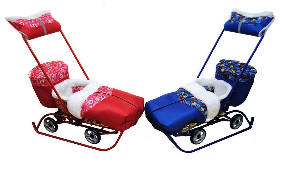 Санки «тимка»: детские модели «универсал» и «комфорт» с выдвижными колесами, сани-коляска «люкс» для детей