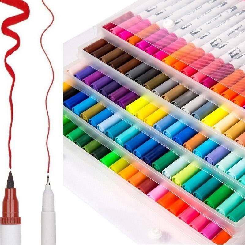 Акварельные фломастеры-кисти для рисования: маркеры для рисования с кистью на конце