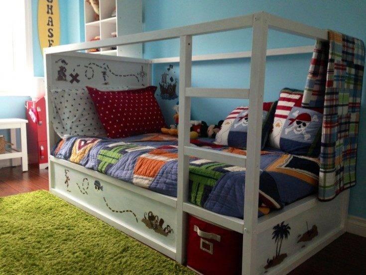 Кровать в детскую комнату – оптимальные модели для мальчиков и девочек разных возрастов (125 фото)