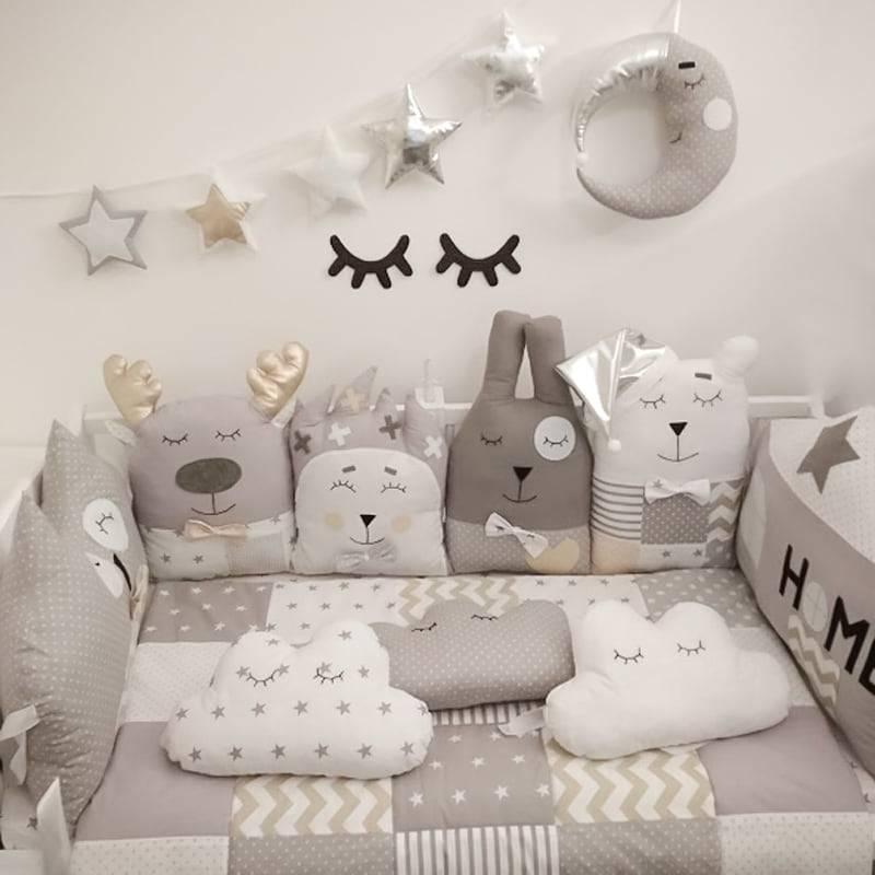 Бортики в кроватку для новорожденных: как выбрать лучший, разновидности, наполнитель