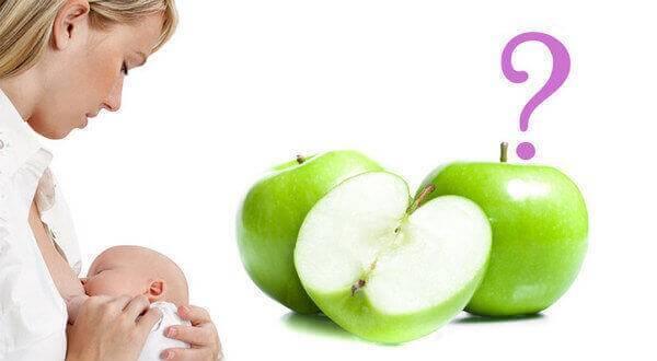 Яблоки при грудном вскармливании: можно ли кормящей маме в первый месяц и другие особенности употребления при лактации
