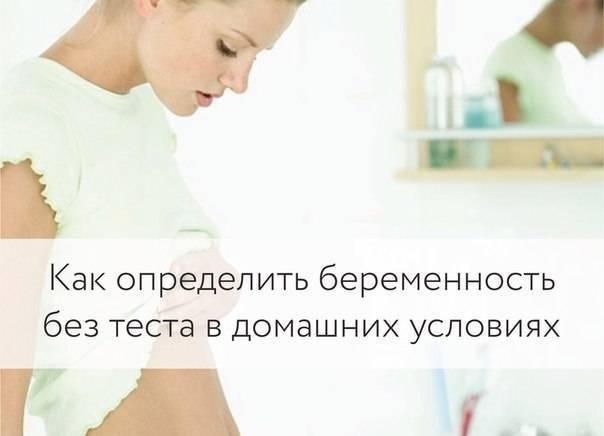 Какими методами можно определить беременность в домашних условиях без теста