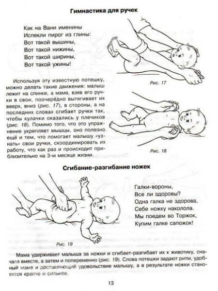 Динамическая гимнастика для новорожденных
