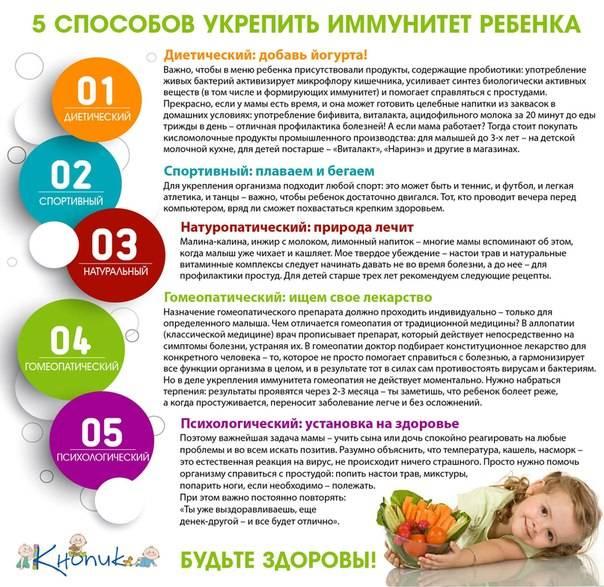 ➤ как поднять иммунитет ребенку до года