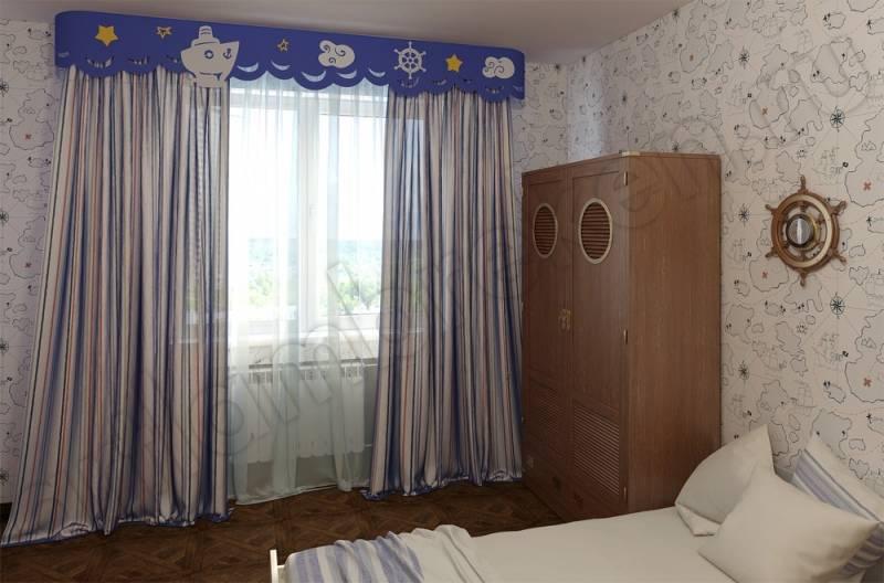 Шторы в детскую комнату для мальчика (51 фото): красивые занавески из фетра в спальню, короткие фотошторы на окна для малышей от 3 лет