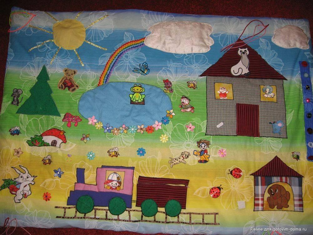 Детский коврик своими руками (64 фото): сенсорный, объемный из помпонов, для закаливания, мастер-классы и инструкции