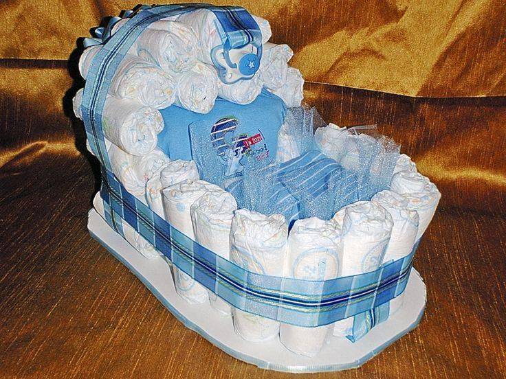 Торт из памперсов своими руками: для девочки и мальчика