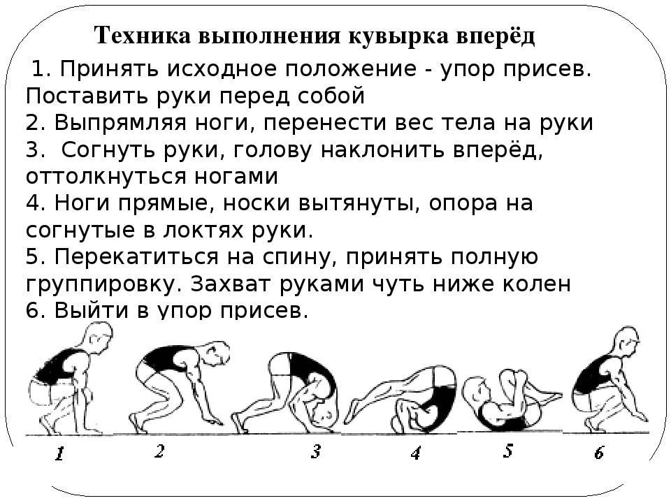 Упражнение 18 кувырок назад