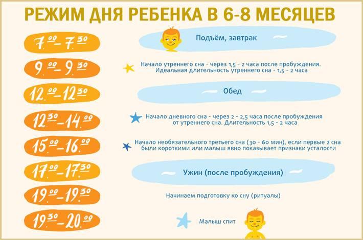 Режим сна ребенка до года по месяцам: подробное описание, таблица