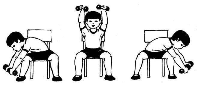 Упражнений для детей 8-12 лет. / комплексы. упражнения. картинки.