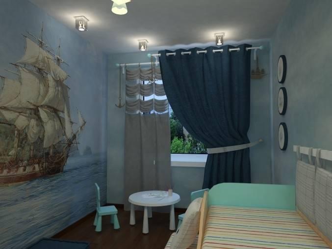 Особенности оформления окна в морском стиле для разных комнат
