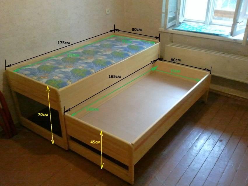 Выдвижная кровать для двоих детей, критерии выбора и правила расположения