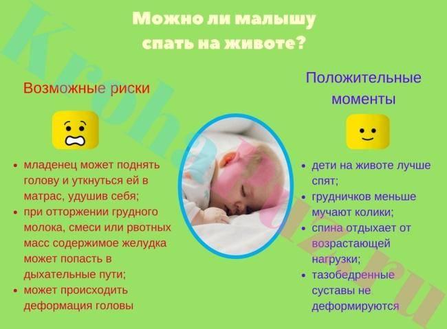 Можно ли новорожденному спать на спине или на животе?