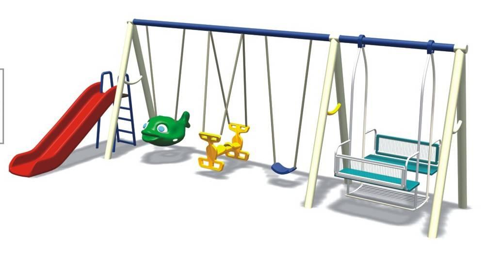 Детские качели: виды, материалы и размеры