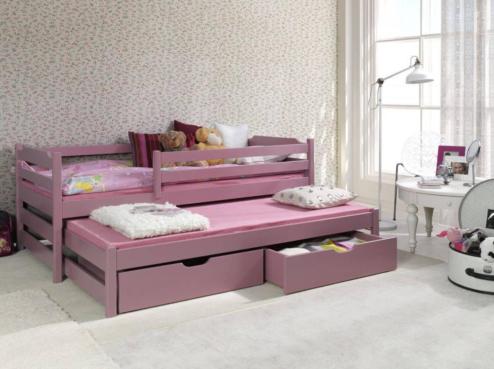 Выдвижная кровать для двоих детей, разновидности, размещение, дизайн