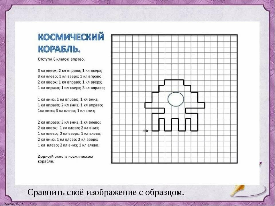 Графические диктанты для детей дошкольников и школьников