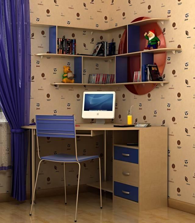 Письменный стол для двоих детей-школьников (30 фото) - реальные примеры интерьеров