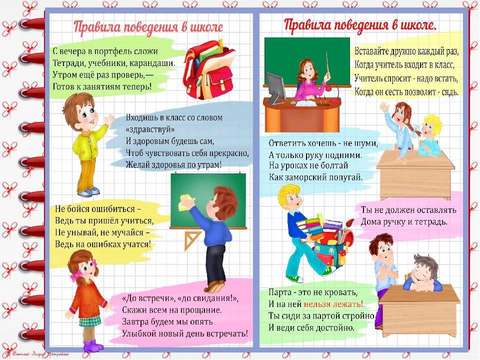 Самые важные правила поведения для учащихся в школе