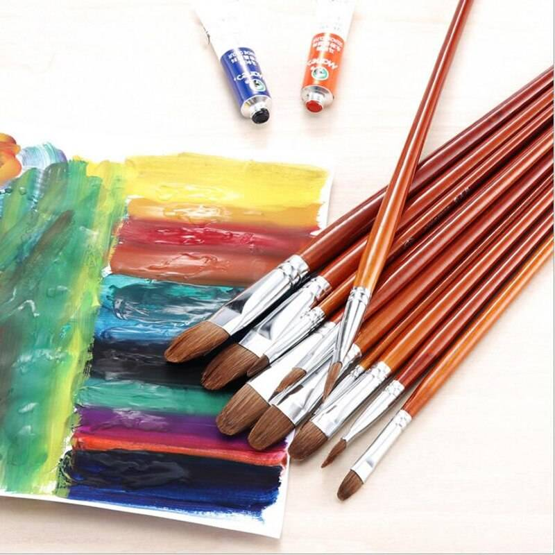 Как выбрать кисть для акриловой краски?