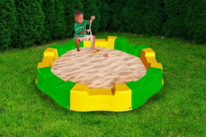 Пластиковые песочницы: сборная детская пластмассовая песочница на дачу, большая круглая, с горкой и другие, как выбрать