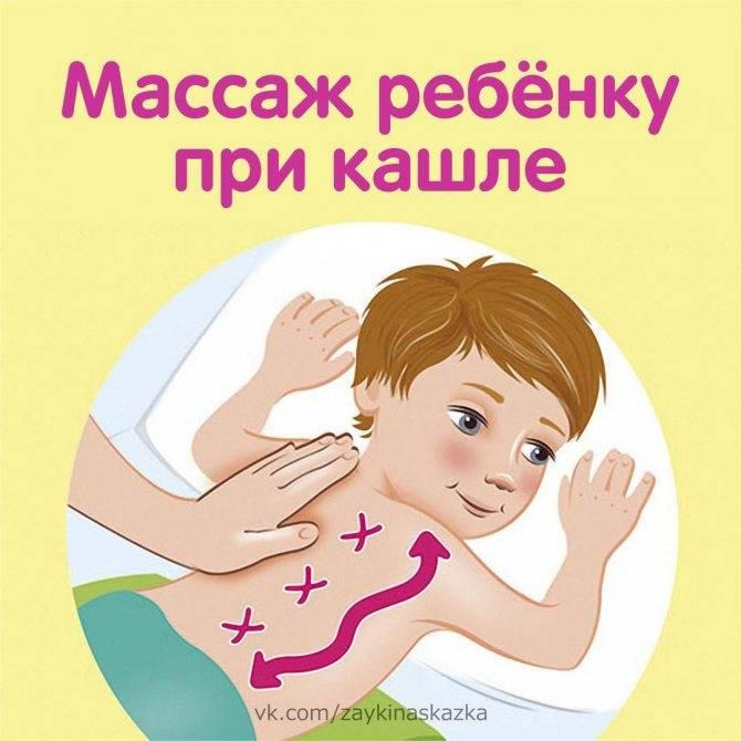 Массаж от кашля детям