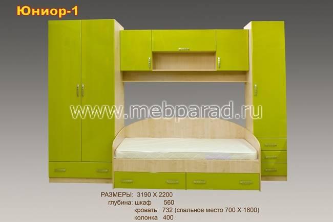 Детские стенки с кроватью (44 фото): модульный спальный гарнитур со шкафом и механизмом опускания передней стенки кровати, модели с двумя постелями в комнату школьника