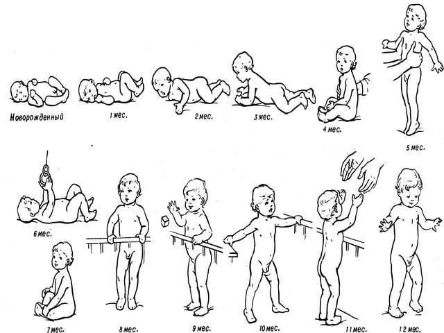 Когда ребенок начинает сидеть и какие упражнения этому способствуют?