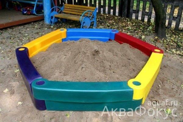 Виды детских песочниц - какую купить, как выбрать правильно песок