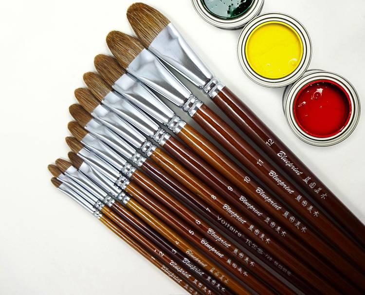 Классификация кистей по виду волоса: когда чем рисовать?