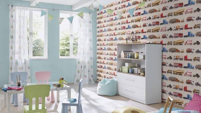Детские обои rasch — модели для раскрашивания bambino в интерьере детской комнаты