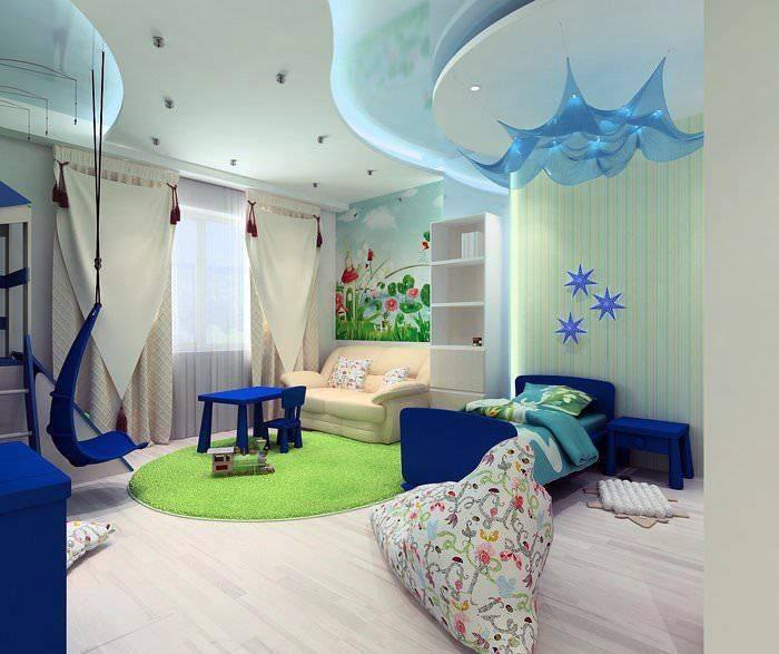 Какой лучше сделать потолок в детской комнате – варианты отделки