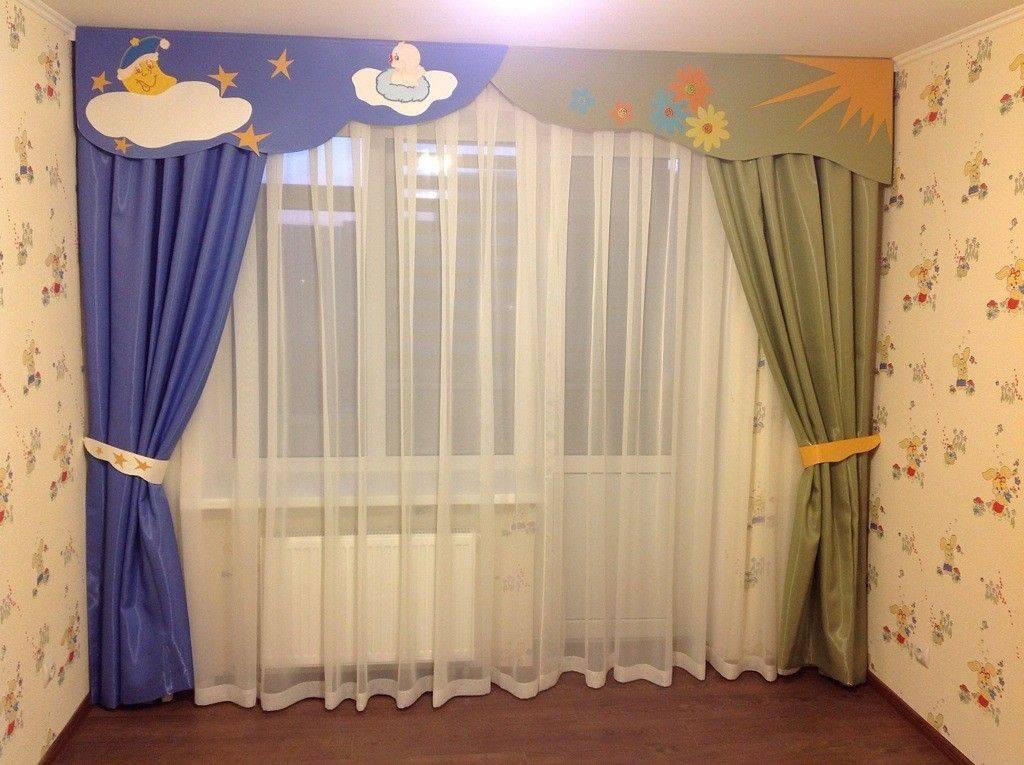 Ламбрекены для детской комнаты: примеры с фото