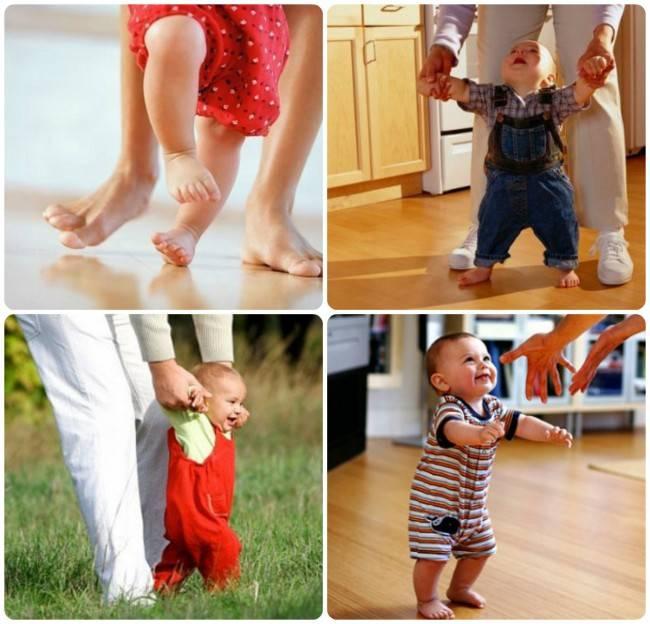 Когда ребенка можно ставить на ножки - во сколько месяцев?