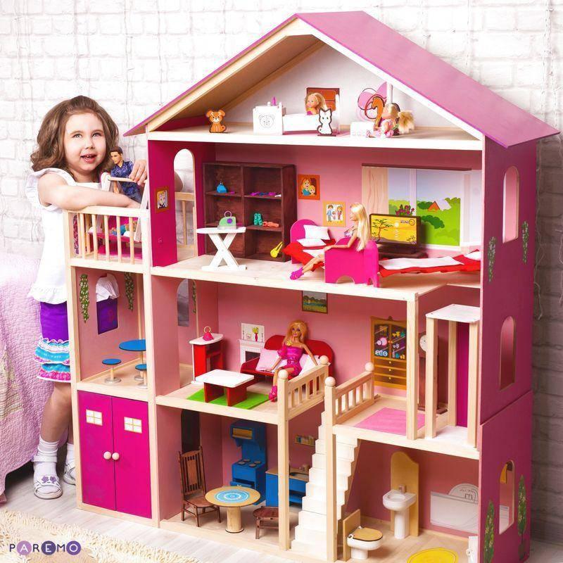 Кукольный домик для барби (37 фото): коттедж с мебелью, обзор - вдохновение, мечта, самый роскошный