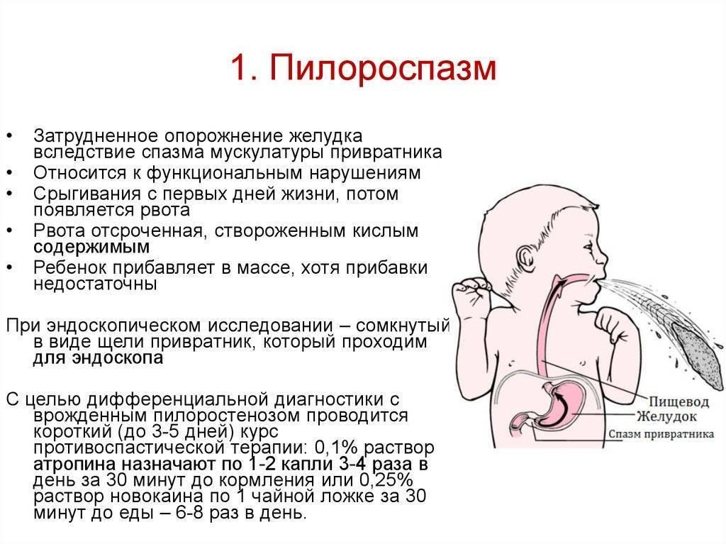 Рвота у грудничка после кормления